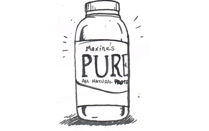 Maxine's pure all natural protein sketch
